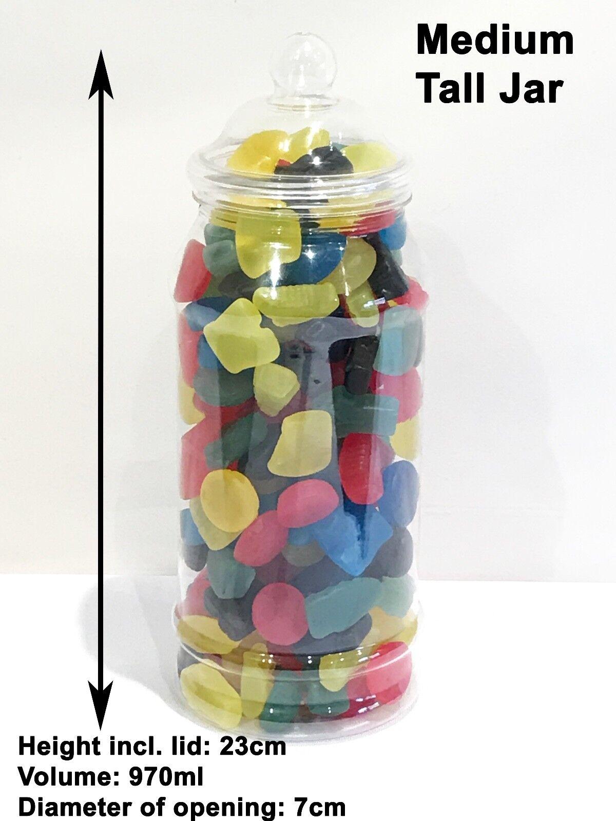 **SLIGHT SECONDS** 10 970ml Plastic Victorian Sweet Jars Candy Buffet Wedding