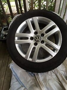 4 Rims and tires for VW Golf