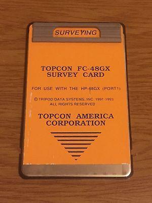 Topcon Fc-48gx Surveying Card For Hp-48gx Calculator