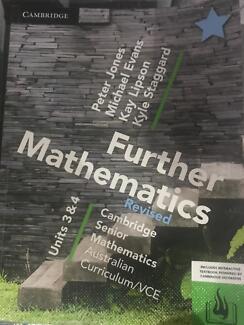 VCE further maths 3&4 Cambridge senior maths text book