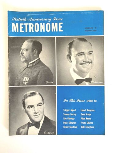 Metronome Magazine October 1943 60th Anniversary Issue Sousa, Whiteman, Goodman