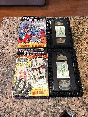 Vintage Transformers VHS 1985 Lot Volume 6 & 7 Transport To Oblivion Roll For It