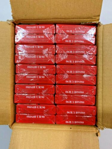 Maxell UR-90 Blank Audio Cassettes (10 Pack) 90 Min Normal Bias - Factory Sealed