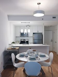 Upscale  Apartment in Downtown Montreal with Large Windows