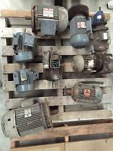 ELECTRIC MOTORS KW RANGE FROM 7.5kw to 0.37kw (SOME WITH GEARBOX) Balcatta Stirling Area Preview