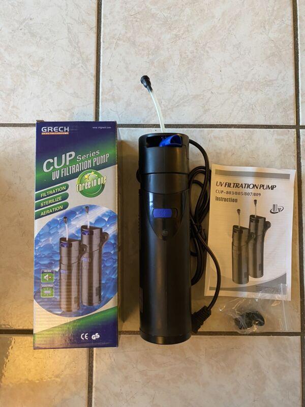 SUNSUN CUP-809 9W UV Sterilizer Submersible Pump Filter 90gal Aquarium FishTank