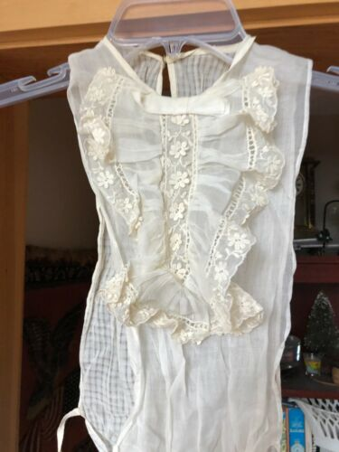 Edwardian Ladies Lace and Embroidered Dress / Corset Cover