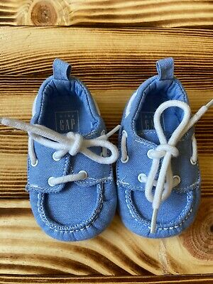 Baby Gap Baby Boys Shoes Denim Chambray Tie 3-6m
