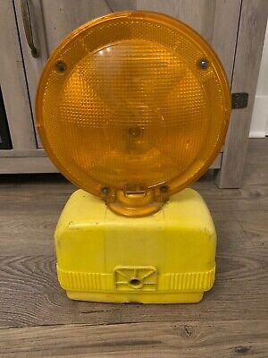 Construction Signal Barricade Yellow Flashing Warning Light Man Cave Road Reva