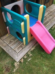 Toddler slide and cube