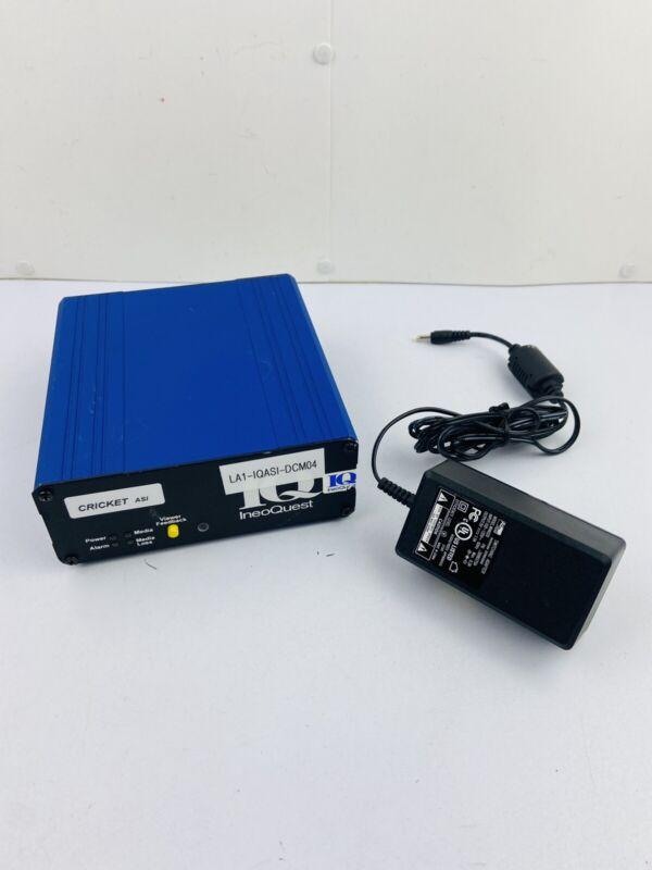IQ IneoQuest 2SL-1A100-001 Cricket ASI MPEG IPTV Video Analyzer w/ Power Supply