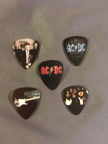 Lot of (5) NOVELTY GUITAR PICK - AC/DC - Group Band Logo Photo FREE SHIP! FAST!