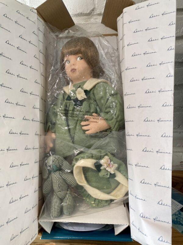 "Felt Doll ""Gina"" By Debbie Richmond W/ Box And COA Green Dress Hat And Bunny"