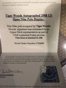 Tiger Woods Autographed shirt UDA Oakville / Halton Region Toronto (GTA) image 3
