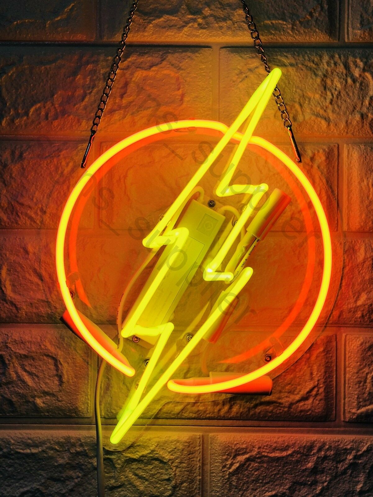 "New Flash Thunder  Wall Decor Artwork Neon Light Sign 13"" x"