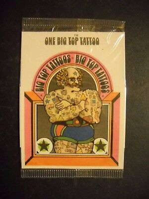 1970 Big Top Tattoos unopened cello pack (Cleveland,Ohio)  RARE PACK! (Big Top Tattoos)