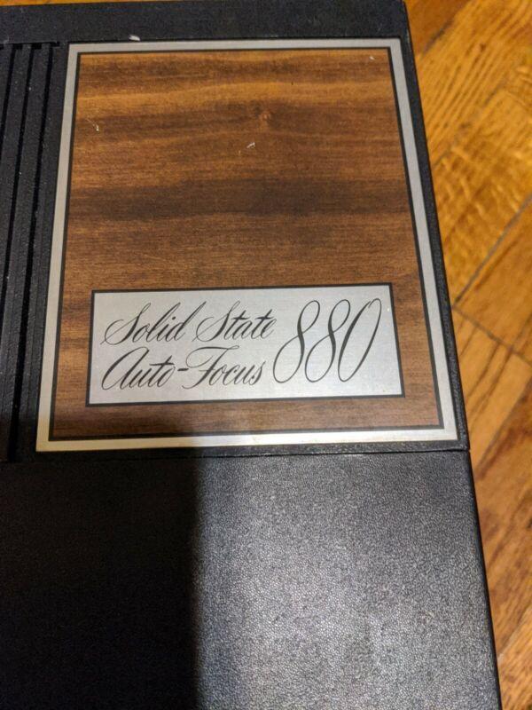 Vintage Wards Solid State Slide Projector Model 880 Auto Focus Black