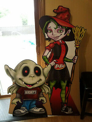 2008 Halloween Hersey's Kit Kat Vampire Witch Cartoon Style Monsters 29x35 27x66 ()
