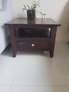 Brown Wooden Bedside Table Albany Creek Brisbane North East Preview