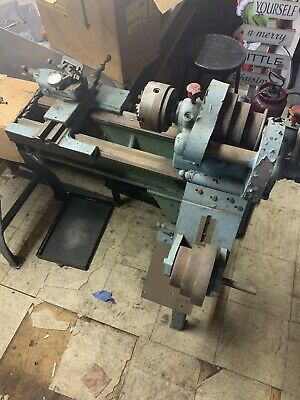 Used Metal Lathe Machine Vintage Treadle Lathe With Tools As Shown In Pics