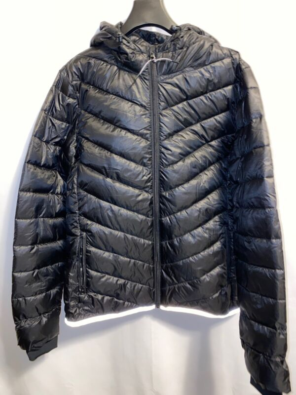 Gap GapFit ColdControl Aerofast Puffer Maternity Jacket, M Medium Black Hooded