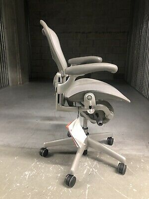 Herman Miller Eames Aeron Chair Size B Loaded - Mineralsatin Aluminum