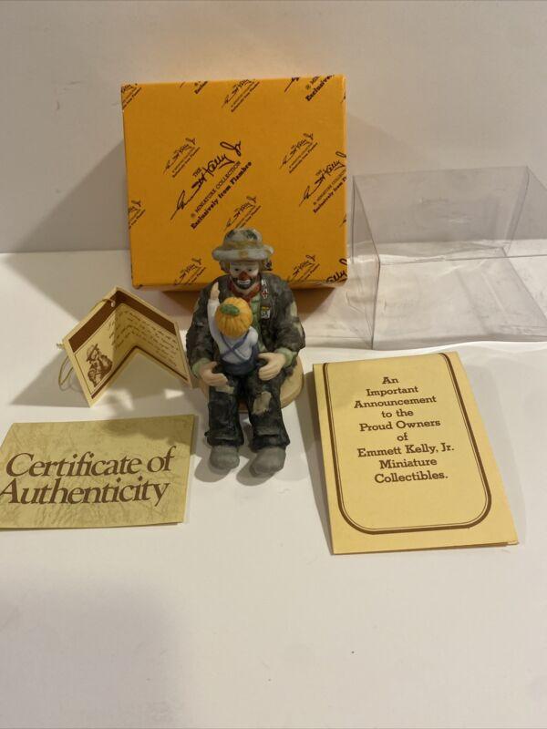 """Emmett Kelly Jr """"The Emmett Fan"""" Figurine (Figure Is Mint, Package Is Damaged"""