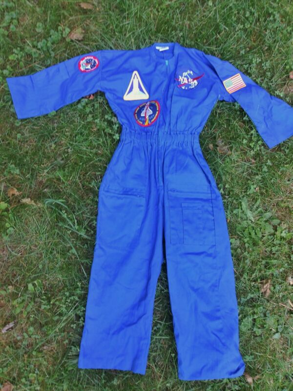 Vintage Jetaone NASA Blue Patches Space Shuttle Discovery Jumpsuit Kids12