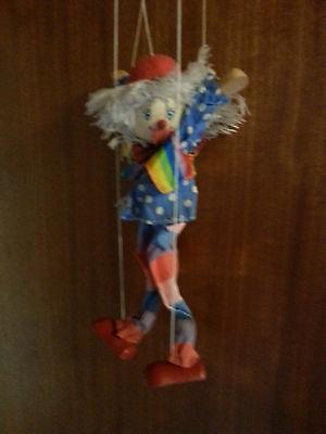 Marionette Clown Cirkus Puppenspieler Geschenk Puppentheater Theater