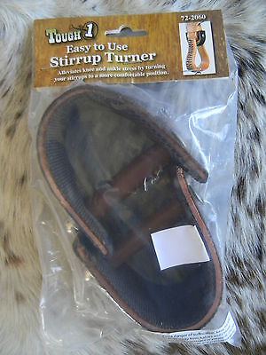"Western Saddle Stirrup Straight Brown Nylon & Leather Construction 3"" Tough 1"