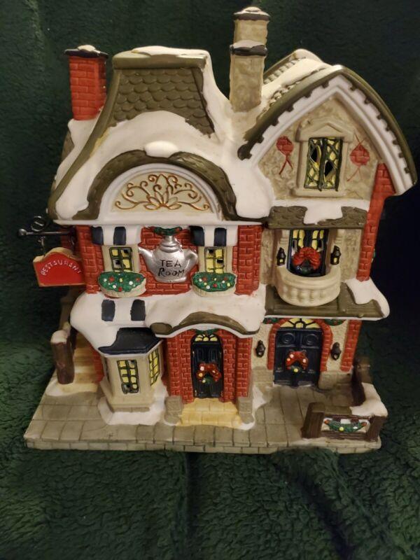 UNBRANDED - Tea Room & Restaurant- Christmas Village Lighted Building