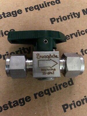 Swagelok Ss-6p4t 38 Tube Quarter Turn Valve Brand New Several Available