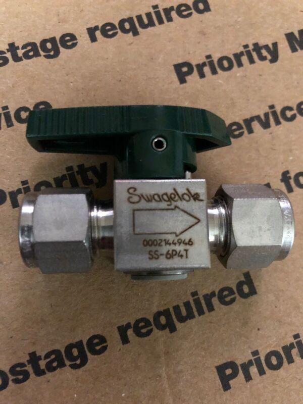 """Swagelok SS-6P4T 3/8"""" Tube Quarter Turn Valve Brand New Several Available"""