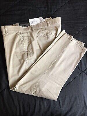 English Laundry Comfort Chino Straight Leg Pants Flex Waist Khaki Mens 40x32