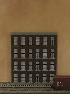 """O Scale Layout Paterson Silk Mill Flat, 4-Story, 12"""" Long, 13-3/4"""" Tall, Unlit for sale  Shipping to Canada"""