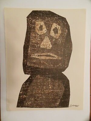 JEAN DUBUFFET Untitled Color Lithograph, XXe Siecle No. 10, 1958