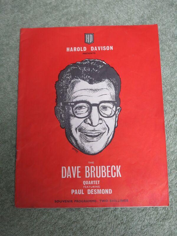 DAVE BRUBECK QUARTET featuring PAUL DESMOND Jan 1961 UK SOUVENIR TOUR PROGRAMME!
