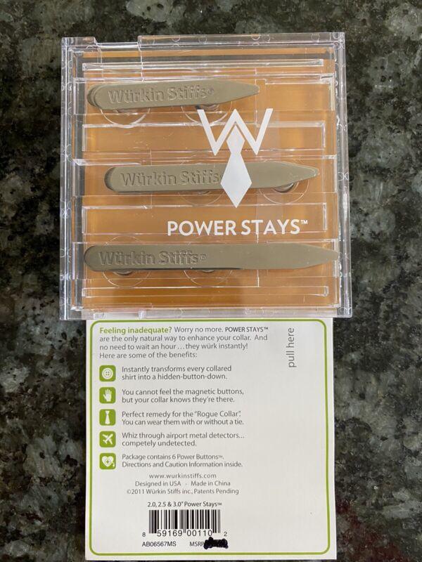 Wurkin Stiffs 3 Pair Power Stays Magnetic Collar Stays