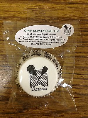 Lacrosse Cupcake Liners by Other Sports & Stuff CL-LAX-BLK