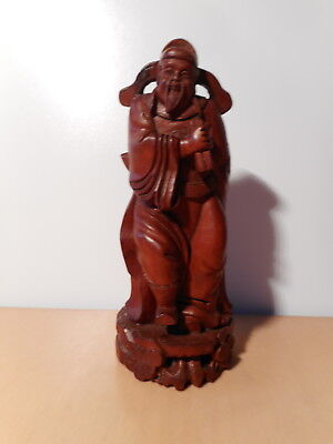 sculpture Statue chinese wood carved character dignitary Chinese China