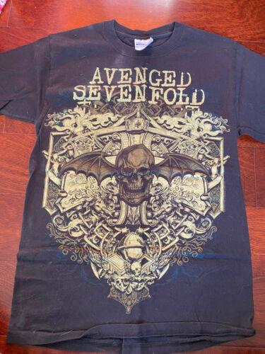 Avenged Sevenfold Bronze Flourish Death Bat Tee - Size S