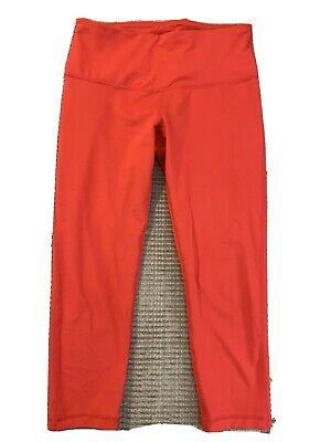 zella crop leggings - S - Coral