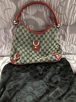 Gucci Red And Navy Shoulder Bag
