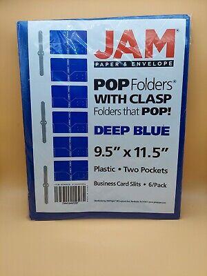 Jam Paper Plastic 2 Pocket School Pop Folders W Metal Prongs 6pk