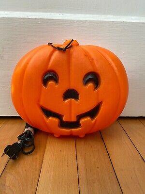 Vintage Halloween Blowmold Pumpkin Hang Light Small Blow Mold Lantern