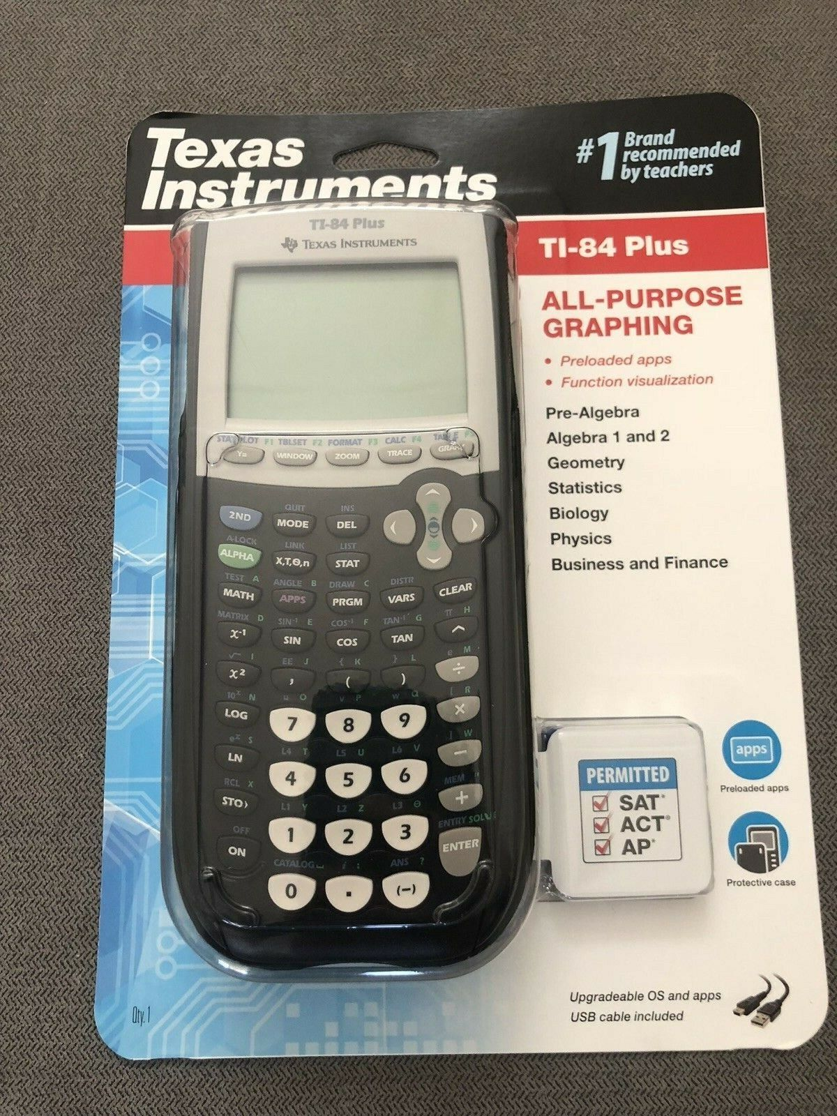 Texas Instruments TI-84 Plus Graphing Calculator - Black - B