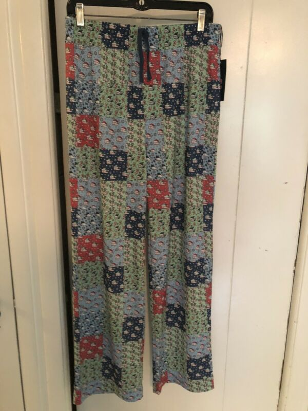 Vineyard Vines Christmas Patchwork Lounge Pants Pajamas XL Size 18 New with Tags