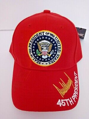 MAGA 45th President Donald Trump Seal Make America Great Again Hat Red