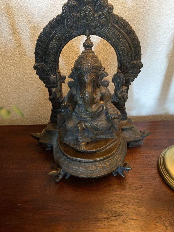India Ganesh Elephant God Hinduism Bronze Statue