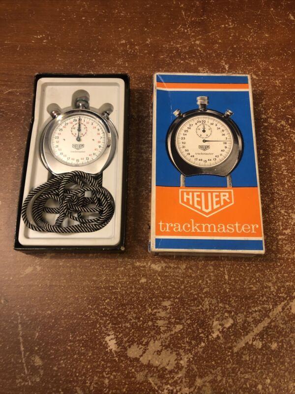 Vintage Heuer Trackmaster Stopwatch Original Box Switzerland